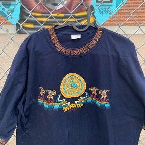 Vintage Vandine Xl Sipan Peru Sleeve/collar print
